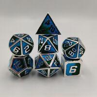 DICE Gaming TOXIC NEON GREEN BLUE Bright 10d10 Set 10 D/&D RPG