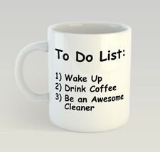 Cleaner To Do List Funny Mug Gift Novelty Humour Birthday Cleaning Ocd