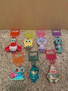 Wendy's The Spongebob Movie toys complete set squarepants clips