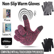 Men Women Winter Snow Gloves Touchscreen Windproof Warm Thick Knit Thermal Gift