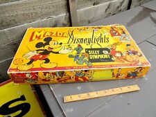 More details for mazda mickey mouse silly symphony disney christmas lights in box c1939