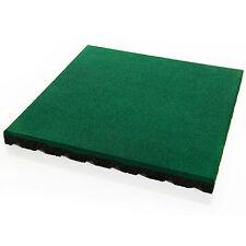 Grüne Fallschutzmatten PlayProtect Fallschutzplatte Gummimatte Bodenmatten