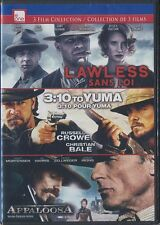Lawless/3:10 to Yuma/Appaloosa (DVD, 2014, 3-Disc Set, Canadian) BRAND NEW