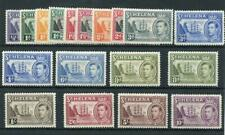 St Helena 1938-44 set and 1949 new colours SG131/40+ MM cat £152 - see desc