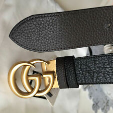 Gucci Reversible Belt Gold GG Buckle size 110 fits 38-40