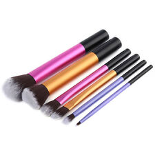 6pcs Pro Cosmetic Eyeshadow Brushes Powder Foundation Lip Brush Makeup Tool Set