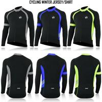 Mens Cycling Long Sleeve Jersey Thermal Super Roubaix Bike Jacket Winter Top