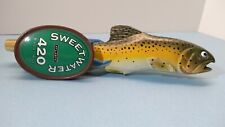 New listing Sweetwater Brewing 420 Pale Ale Beer Tap Handle Trout Atlanta