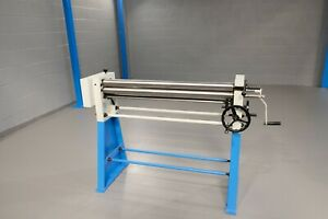 Mach roll 1050mm x 60mm 1.2mm  hand operated bending rolls roller vat included