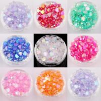 200pcs Pretty Heart Shaped Acrylic AB color Spacer Beads for Diy 8x4mm