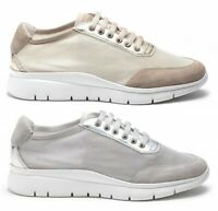 FRAU 42N2 SABBIA GRIGIO scarpe donna sneakers pelle camoscio rete tessuto run