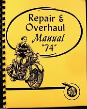 "Indian 1935-53 Repair & Overhaul Manual for The ""74"" Model  54 Illustrtated Pgs"