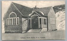 Library—North Hatley QUEBEC Rare Antique CPA Postcard—Wooden Building 1907