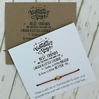 Friends Inspirational You Got This Card Wish String Charm Boho Bracelet #8
