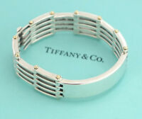 TIFFANY&Co Gate Link Bracelet 18K Gold & Silver 925 Bangle w/BOX #2249