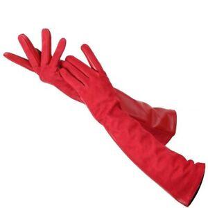 genuine suede 50% women's leather gloves,Keep warm winter women's long glove