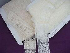 Exclusive English Nottingham Cotton Cluny Lace Vintage style Cream FC354 Bridal