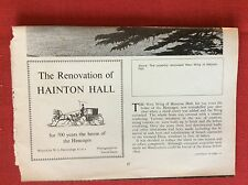 m2k ephemera 1975 article the renovation of haddon hall