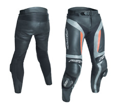 RST BLADE II GREY FLO RED LEATHER  MOTORCYCLE JEANS TROUSERS 34 WAIST NEW