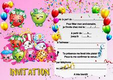 5 - 12 ou 14 cartes invitation anniversaire bonbons candie réf 450