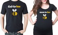 Dad to Bee Mom To bee Funny Maternity T-shirts Dad maternity Mom Pregnancy Tee