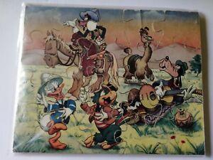"DISNEY 3 puzzles en bois Mickey/Minnie Disney"" vintage"