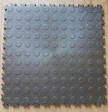 ECO NOPPEN schwarze PVC-Werkstatt-Garagen-Boden-Fliesen-Fliese KLICK-Verlegung
