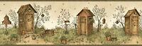 Twain Sand Garden Outhouse Portrait Wallpaper Border Chesapeake BBC65022B