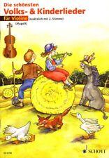 Die schönsten Volks- und Kinderlieder für 1-2 Violine(n) Noten