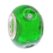 50 Strass European Folie Glasperlen Beads
