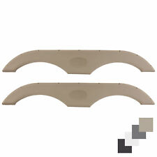 Pair Of RecPro Tandem Trailer Fender Skirt In Tan For Rvs, Campers And Trailers