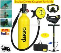 ✅DIDEEP 1L Diving Mini Scuba Cylinder Oxygen Tank Underwater Breath Equipment ✅