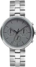 NEW Vince Camuto Men's Multi Function Dial Silver-Tone Water Resistant Watch