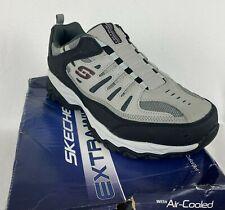 Skechers Men's After Burn M Fit Extra Wide Fit Memory Foam Shoes 11.5 Gray/Black