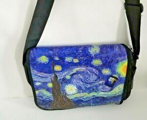 Doctor Who Starry Night Tardis Crossbody Bag Messenger Shoulder Bag Purse NWOT