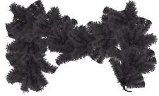 Black Christmas Garland 6FT Length 12IN Width Christmas Tinsel Brush Garland