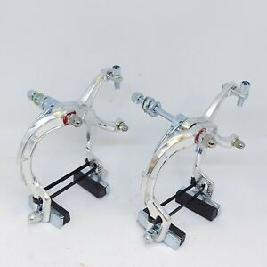 SILVER BMX BRAKE CALIPERS - Alloy MX Style (Like dia compe mx1000 ) Front & Rear