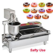 950Pcs/H Commercial Electric Automatic Doughnut Donut Machine Maker Fryer 3 Mold