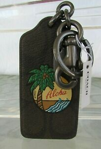 Coach Aloha Bag Charm Keychain Key Ring Tropical Hawaii F30287 NWT