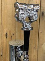 OKLAHOMA SOONERS Beer Keg Tap Handle OU Covered Wagon Trophy Metal Oregon Trail