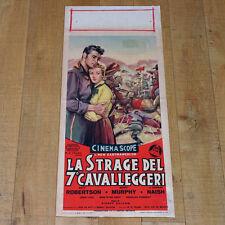 STRAGE DEL 7° CAVALLEGGERI locandina poster Sitting Bull Robertson Western D34