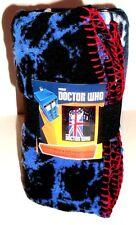New Doctor Who Bbc Uk Textured Fleece Throw Rolled Lightweight Blanket 50x60