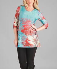 Long Top Size 14 Floral Tunic -1480