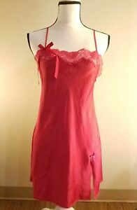 victoria's secret slip on red dress intimate wear size S