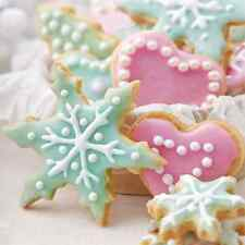 Christmas 20 Paper Lunch Napkins PASTEL SWEETS Colourful Pastel Bauble Winter