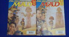 Star Wars Phantom Menace MAD Magazine #383 July 1999 2 Cover Variations