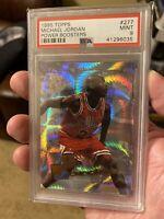 1995 Topps Michael Jordan Power Boosters PSA 9 Mint Chicago Bulls Card #277