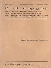 RICERCHE DI INGEGNERIA - anno III - bimestrale n. 5-6 - sett./ott. 1935 - doppio