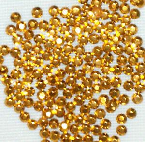 1440 x 3 mm GOLD HOTFIX  IRON ON  RHINESTUDS (10 gross) beads