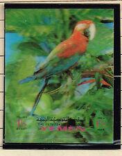 Yemen Fauna Bird Flowers 3D stamp 1972 MNH